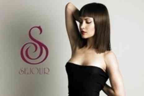Sejour - Half Head Highlights or Full Head Colour Plus Cut, Blow Dry and Kerastase Treatment - Save 80%