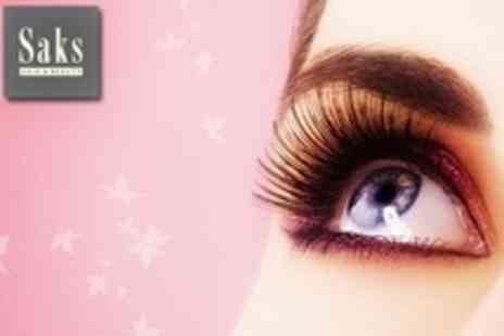 Saks Hair and Beauty - Full Set of Individually Applied Nouveau Eyelash Extensions - Save 71%