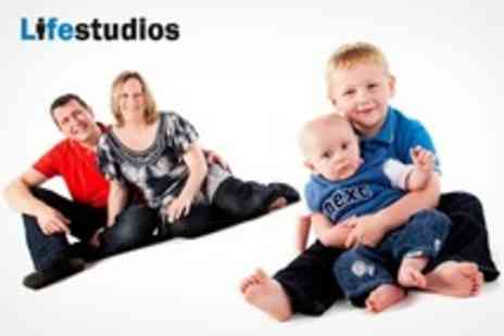 Life Studios - Family Photoshoot With Framed Print - Save 94%