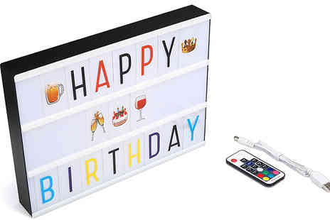 Bag A Bargain - 7 Colour Light Box With Remote Control - Save 39%