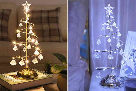 Bag A Bargain - Battery Powered Crystal Christmas Tree Lamp - Save 70%