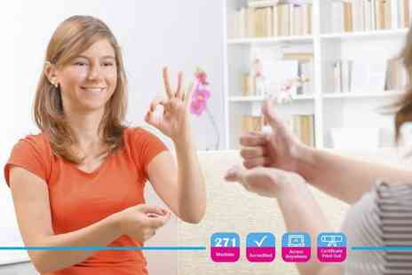 Alpha Academy - Accredited British Sign Language Level 1 & 2 online course - Save 96%