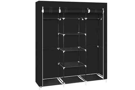 Bag A Bargain - 69 Inch Portable Fabric Double Rod Wardrobe - Save 67%