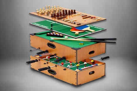 Eurotrade - 5 in 1 kids table top games table - Save 58%