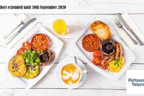 Patisserie Valerie - All Day Brunch with Optional Hot Drink for Two - Save 35%