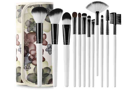 Wish Whoosh Offers - 12 Piece Makeup Brush Set - Save 75%