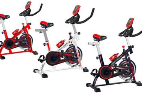 Groupon Goods Global GmbH - 10kg Flywheel Spinning Home Exercise Bike With Free Delivery - Save 63%