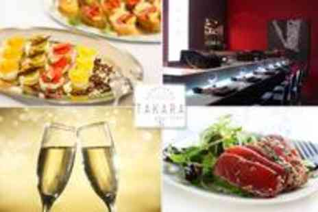 Takara Sushi - Luxurious Japanese meal with bubbly for two - Save 62%
