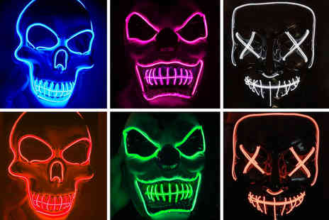 Topgoodchain - Stitched LED Halloween mask - Save 81%