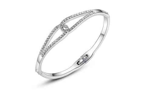 Your Ideal Gift - Infinity rhodium plated crystal bracelet - Save 82%
