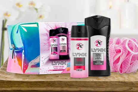 Avant Garde - Lynx Attract for her gift set including a 150ml body spray and 250ml body wash - Save 0%