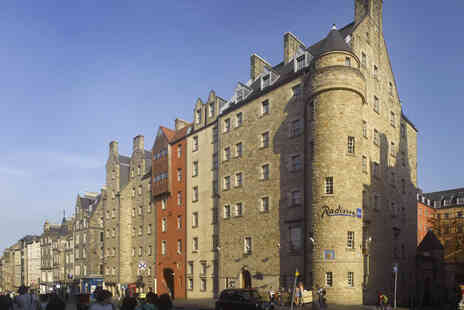 Radisson Blu Hotel - Edinburgh stay for two people in a Superior Room with breakfast - Save 52%