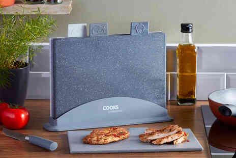 CJ Offers - Four piece chopping board set - Save 64%