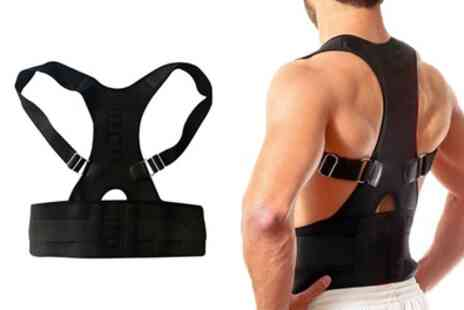 Groupon Goods Global GmbH - Heated Magnetic Posture Correctors with Lumbar Support - Save 46%