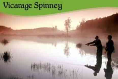 Vicarage Spinney Trout Farm - Full Day of Fly Fishing With Cooked Breakfast For One - Save 55%