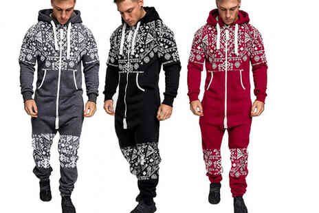 hey4beauty - Mens winter onesie in Red, Grey or Black in sizes XL to 3XL - Save 0%