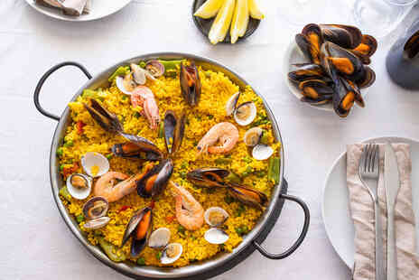 Sangria - Paella for two people with a bottle of wine to share - Save 51%