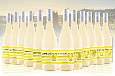 San Jamon - 12 bottles of Charco Tempranillo Blanco and Viura white wine - Save 46%