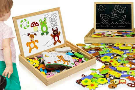 Avant Garde - Childrens wooden magnetic puzzle board - Save 69%
