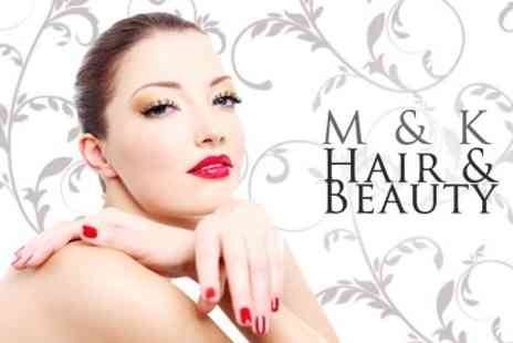 M and K Hair and Beauty - Gel Manicure and Pedicure - Save 72%