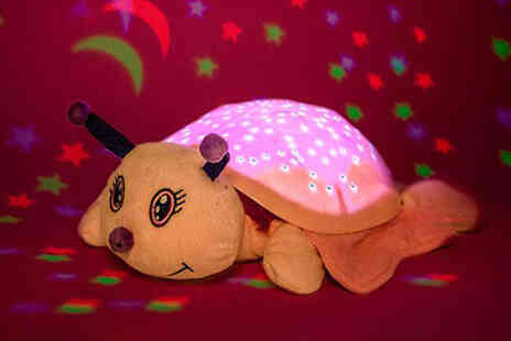 Avant Garde - Cuddly toy projector light in a butterfly or cow designs - Save 0%