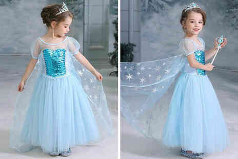 Topgoodchain - Kids blue sequined snow princess dress - Save 67%