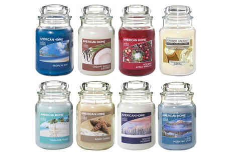 Eurotrade - 19oz American Home by Yankee Candle scented candle in a glass jar - Save 0%