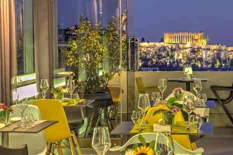 Polis Grand Hotel - Central Athens Stay at Contemporary Hotel with Stunning Acropolis Views for two - Save 60%