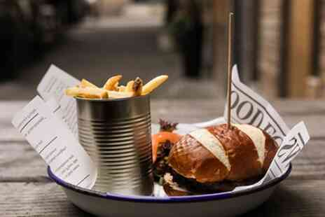 Bar 50 - Choice of Up to Four Burgers, Side and Drinks for Up to Four - Save 56%