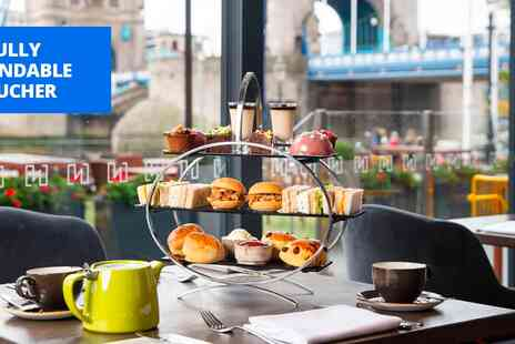 The Tower - Afternoon tea & prosecco for 2 with Thames river views - Save 35%