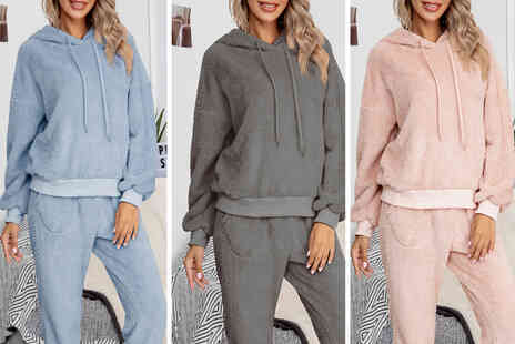 MBLogic - Womens plush teddy tracksuit set in Pink, Purple, Light Brown, Blue, Navy, Dark Grey - Save 0%