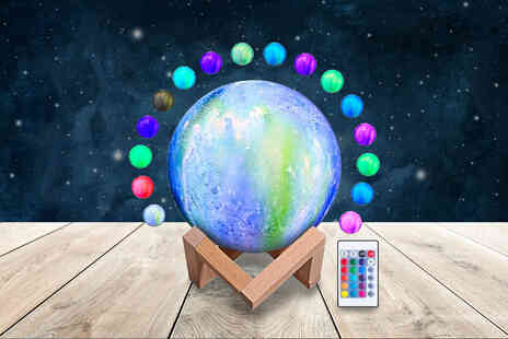 Top Good Chain - Painted moon lamp with remote control in galaxy, starry sky, pink sky or blue sky designs - Save 86%