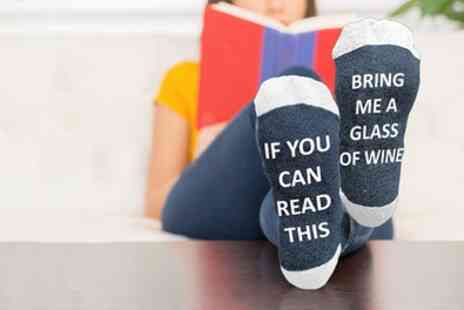 Groupon Goods Global GmbH - Pairs of Bring Me Wine' Christmas Socks  - Save 12%
