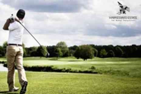 Hawkesyard Estate - Round of Golf With Practice Session For Two - Save 75%