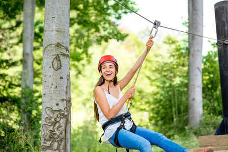 Parkwood Outdoors - Zip wire experience for two people - Save 50%