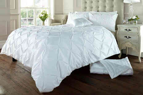 Victoria Home Living - Single Alford pintuck bedding set - Save 70%