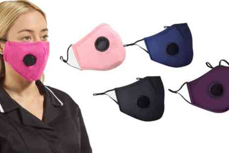 Groupon Goods Global GmbH - Site King Reusable Face Mask with Valve - Save 0%