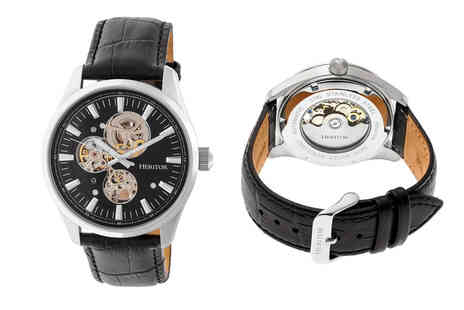 Heritor - Mens heritor Stanley luxury watches choose form four designs - Save 84%