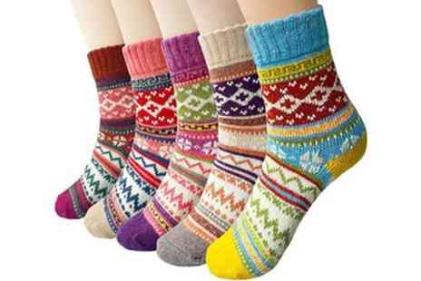 Groupon Goods Global GmbH - 5, 10 or 15 Pack of Womens Winter Thermal Socks - Save 68%