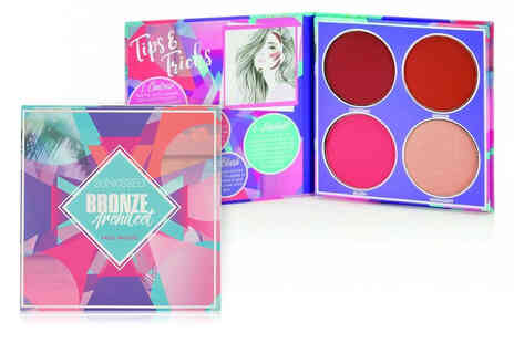 Wowcher Direct - Sunkissed four pan bronzer, contour, highlighter and blusher makeup palette - Save 65%