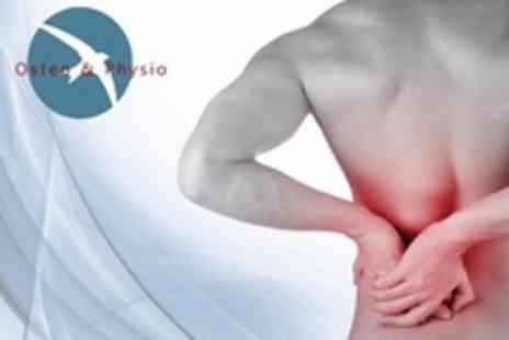 Osteo and Physio - Osteopathy or Physiotherapy Treatment With Computerised Postural Assessment - Save 80%