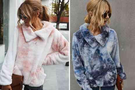 Arther Gold - Womens Tie Dye Teddy Jumper - Save 60%