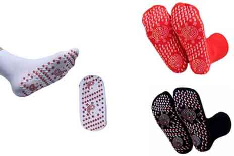 Groupon Goods Global GmbH - Self Heating Therapy Massage Socks - Save 50%