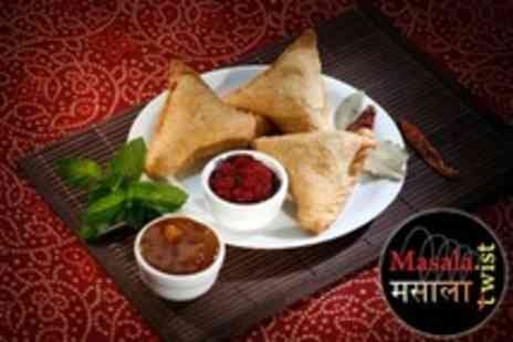 Masala Twist - Indian Afternoon Tea For Two With Glass of Bubbly Each - Save 61%