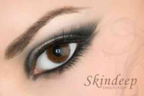 Skindeep Beauty Salon - Eyelash Tint Plus Brow Tint and Wax - Save 57%