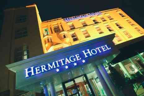 The Hermitage Hotel - 1 To 2 Nights for Two with Breakfast, Dinner, Wine and Cream Tea - Save 0%