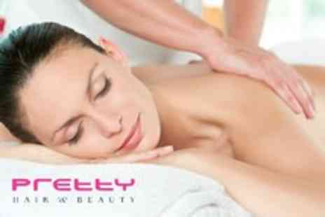 Pretty Hair and Beauty - 1 hour full body massage and 40 minute facial - Save 53%