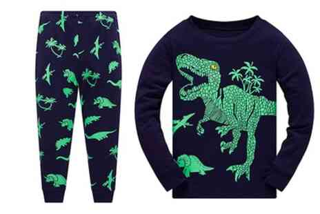 Groupon Goods Global GmbH - Kids Dinosaur Pyjama Set - Save 80%
