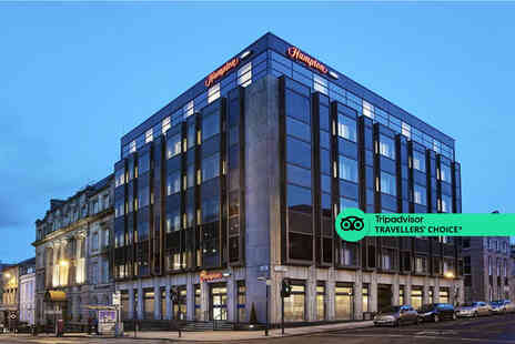 Hampton by Hilton Glasgow Central - A Glasgow stay with breakfast and welcome drink for two - Save 38%