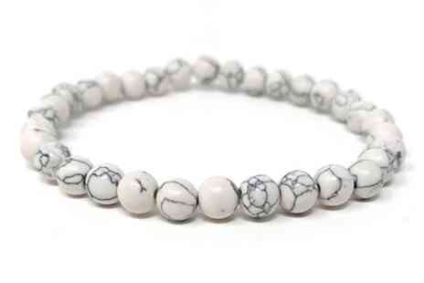 Groupon Goods Global GmbH - White Howlite Stabilising Bracelets - Save 81%